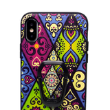 Tribal Abstract Textured iPhone 7 8 X XR XS Max Case With Phone Stand