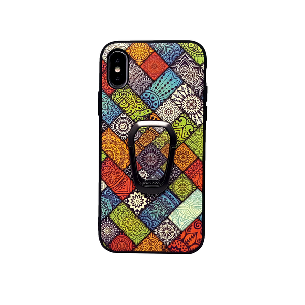 Abstract Culture Textured iPhone 7 8 X XR XS Max Case With Phone Stand