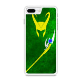 Loki Marvel Villain Vector iPhone 8 Plus Case