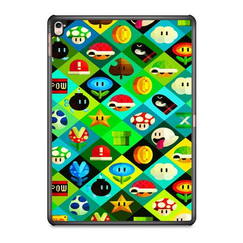 Mario Bros Icons iPad Pro 9.7 Inch Case