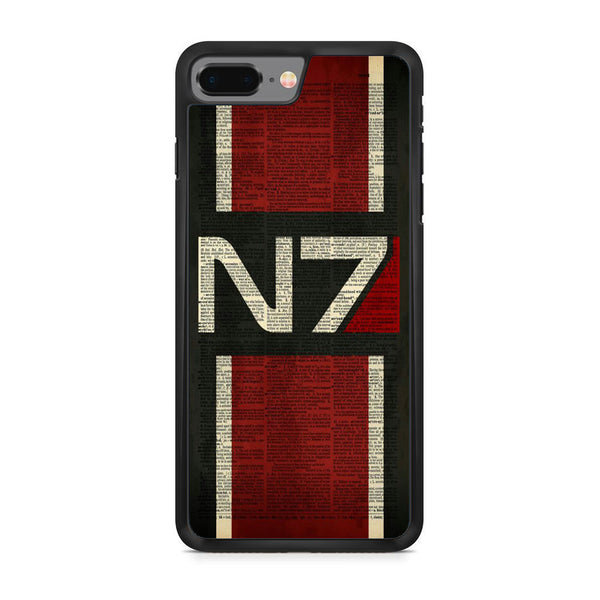 Mass Effect N7 Text Cover iPhone 8 Plus Case