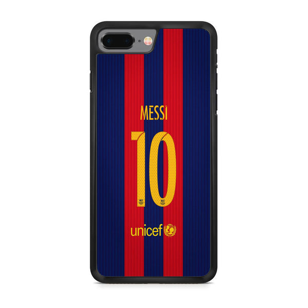 Messi FC Barcelona Jersey Back iPhone 8 Plus Case