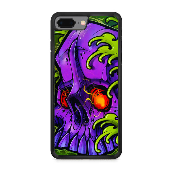 Monster Skull Green Slime iPhone 8 Plus Case