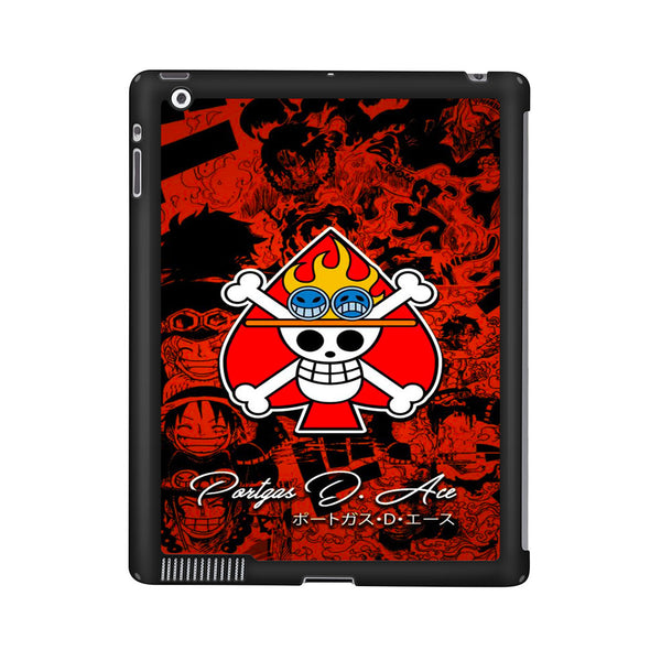 One Piece Portgas D Ace Comic Logo iPad 2 | 3 | 4 Case
