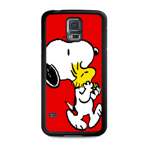 Snoopy And Woodstock Red Samsung Galaxy S5 Case