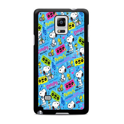 Snoopy Peanuts Music Samsung Galaxy Note 4 Case