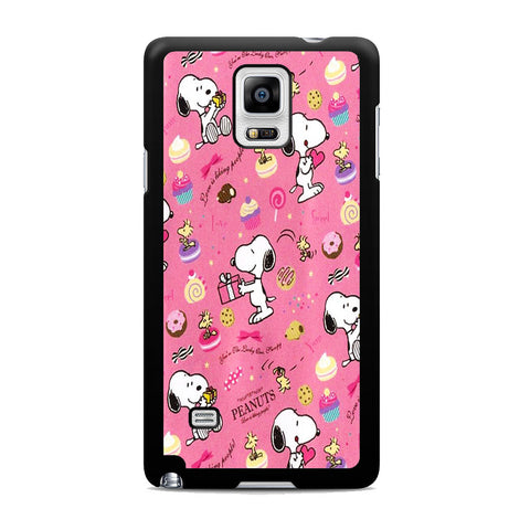 Snoopy Peanuts Pink Samsung Galaxy Note 4 Case