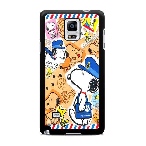 Snoopy Postman Samsung Galaxy Note 4 Case