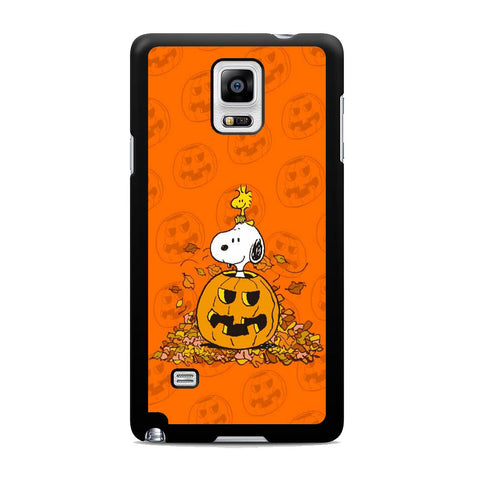Snoopy Pumpkin Helloween Samsung Galaxy Note 4 Case