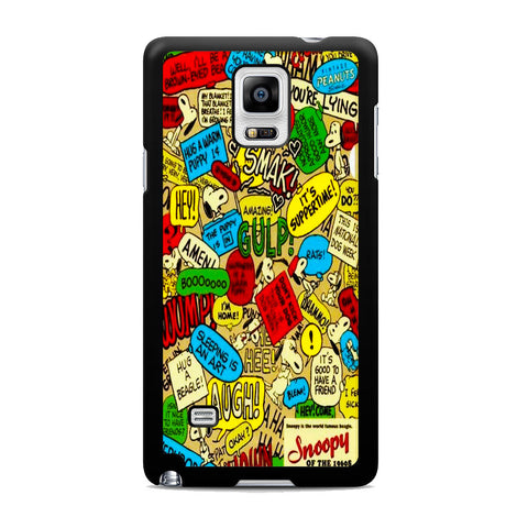 Snoopy Quotes Samsung Galaxy Note 4 Case
