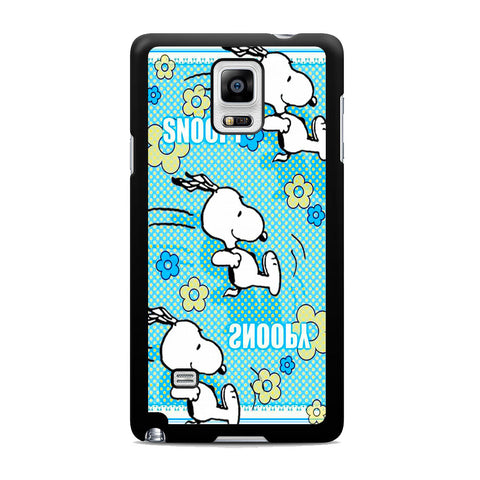 Snoopy Sliding Sky Blue Samsung Galaxy Note 4 Case