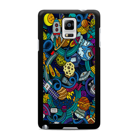 Space Planet Doodle Samsung Galaxy Note 4 Case