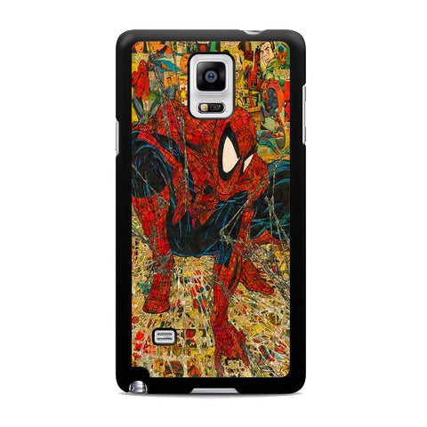 Spider Man Spider Web Comic Samsung Galaxy Note 4 Case