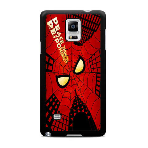 Spider Man Web Responsibility Samsung Galaxy Note 4 Case