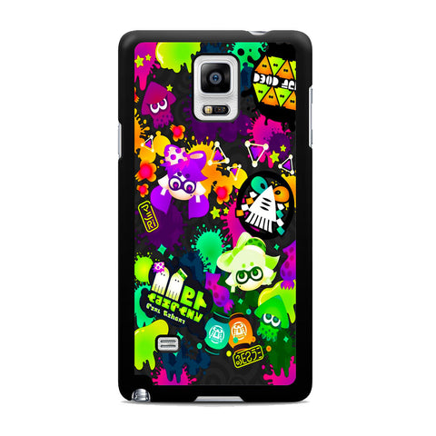 Splatoon Colorful Splat Samsung Galaxy Note 4 Case