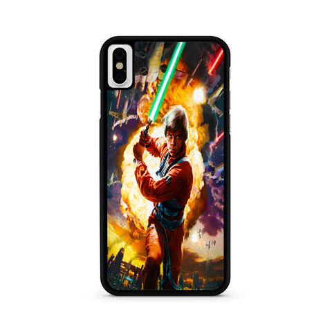 Star Wars Luke Skywalker Green Lightsaber iPhone X | XR | XS | XS Max Case
