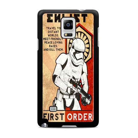 Star Wars Stormtrooper First Order Samsung Galaxy Note 4 Case