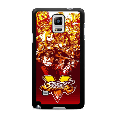 Street Fighter Characters Logo Samsung Galaxy Note 4 Case