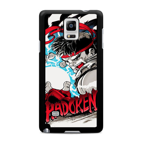 Street Fighter Ryu Hadoken Samsung Galaxy Note 4 Case