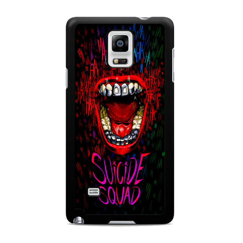 Suicide Squad Joker Laugh Samsung Galaxy Note 4 Case