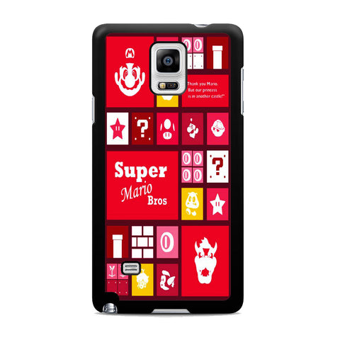 Super Mario Bros Icon Samsung Galaxy Note 4 Case