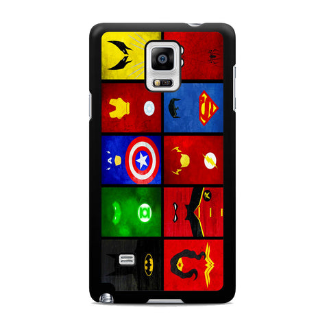 Superheroes Marvel And DC Samsung Galaxy Note 4 Case