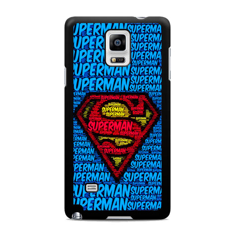 Superman Logo Typography Samsung Galaxy Note 4 Case