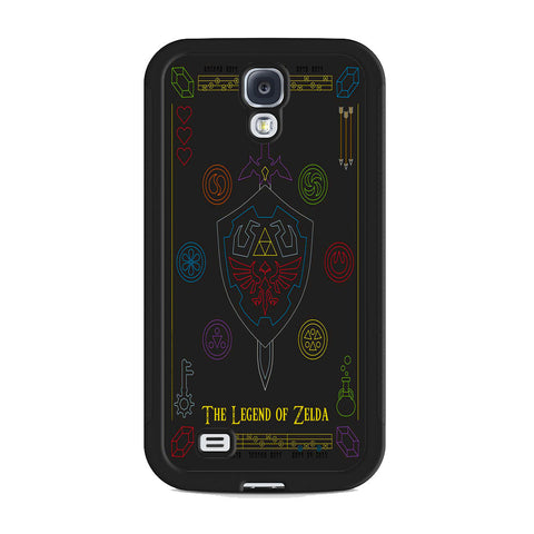 The Legend of Zelda Colorful Symbols Samsung Galaxy S4 Case