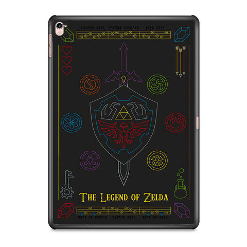 The Legend of Zelda Colorful Symbols iPad Pro 9.7 Inch Case
