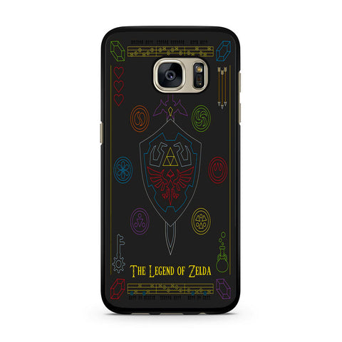 The Legend of Zelda Colorful Symbols Samsung Galaxy S7 | S7 Edge Case