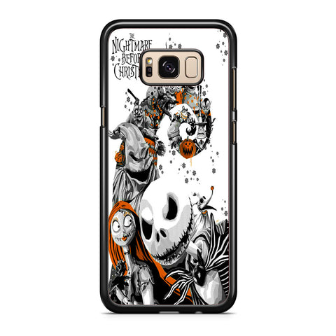 The Nightmare Before Christmas White Cover Samsung Galaxy S8 | S8 Plus Case