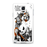 The Nightmare Before Christmas White Cover Samsung Galaxy Note 4 Case
