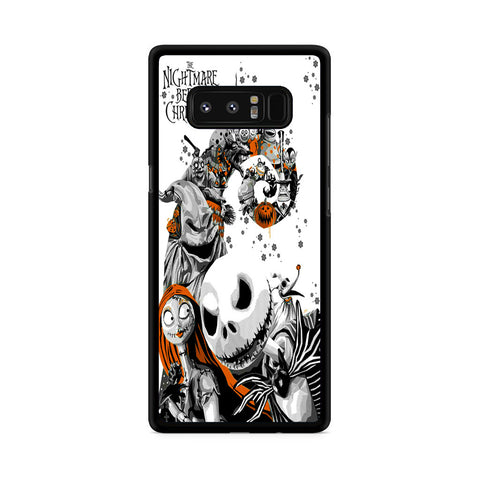 The Nightmare Before Christmas White Cover Samsung Galaxy Note 8 Case