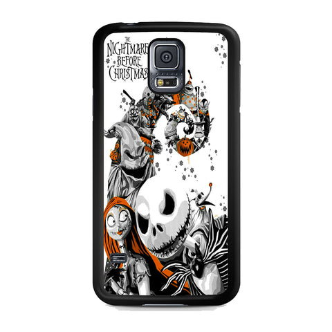 The Nightmare Before Christmas White Cover Samsung Galaxy S5 Case