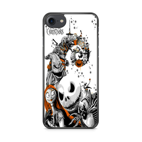 The Nightmare Before Christmas White Cover iPhone 7 Case
