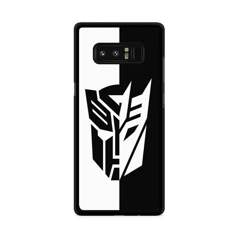 Transformers Black White Samsung Galaxy Note 8 Case