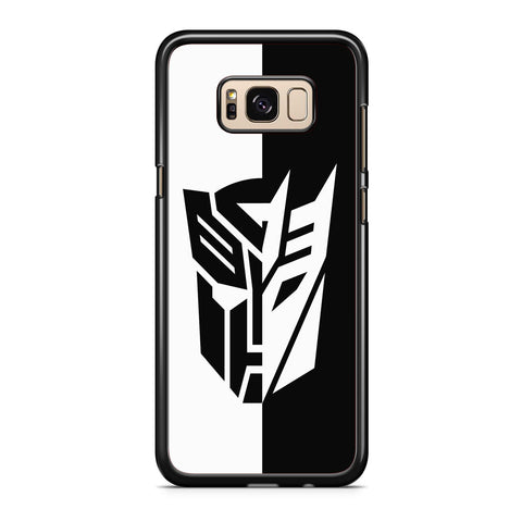 Transformers Black White Samsung Galaxy S8 | S8 Plus Case