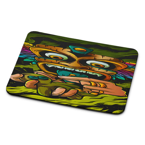 Tribal Mask Voodoo Mouse Pad