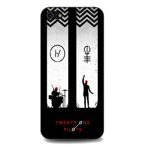 Twenty One Pilots Black White iPhone 5 | 5S | SE Case