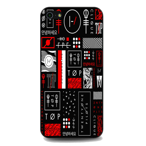 Twenty One Pilots Logo Collage iPhone 5 | 5S | SE Case