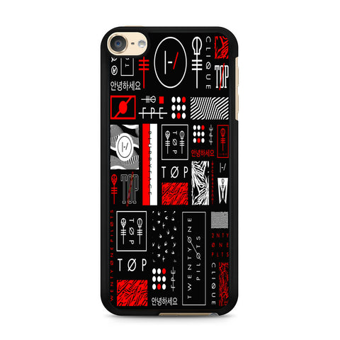 Twenty One Pilots Logo Collage iPod Touch 6 Case