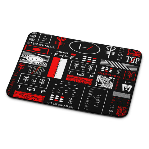Twenty One Pilots Logo Collage Mouse Pad