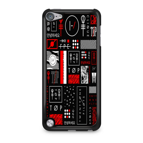 Twenty One Pilots Logo Collage iPod Touch 5 Case
