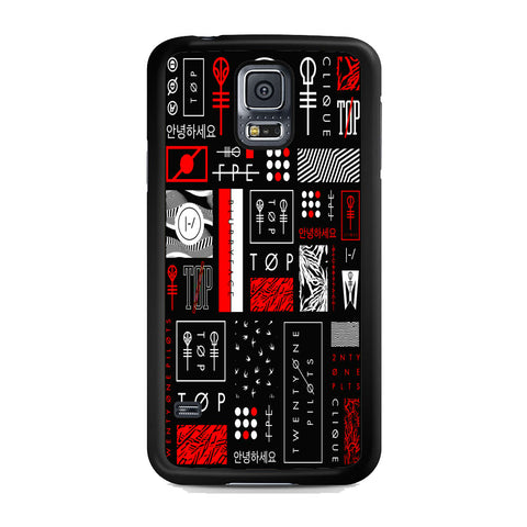Twenty One Pilots Logo Collage Samsung Galaxy S5 Case