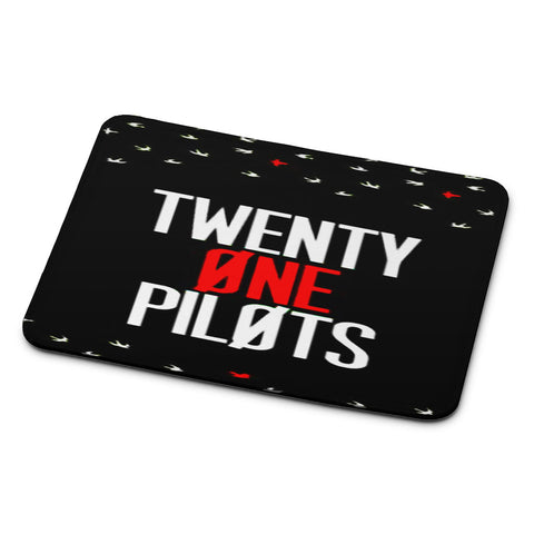 Twenty One Pilots Simple Black Mouse Pad