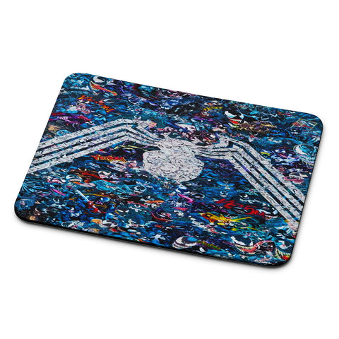 Venom Logo Collage Mouse Pad