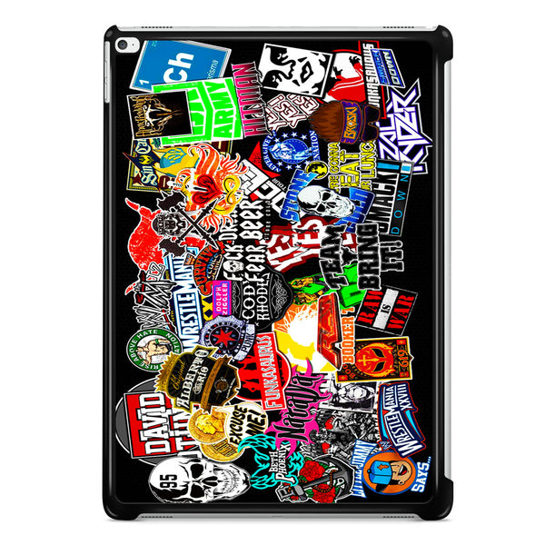 WWE Stars Logo Collage iPad Pro 12.9 Inch Case