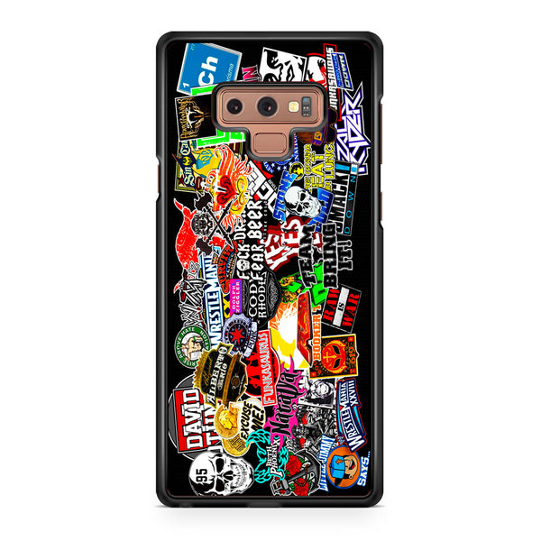 WWE Stars Logo Collage Samsung Galaxy Note 9 Case