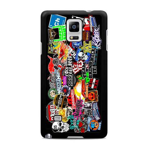 WWE Stars Logo Collage Samsung Galaxy Note 4 Case