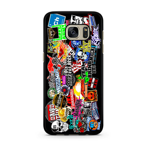 WWE Stars Logo Collage Samsung Galaxy S7 | S7 Edge Case